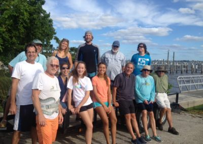 The work crew at the Jenson Beach boat ramp.