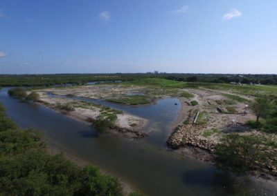 The restored saltmarsh at FWC's Mosquito Lagoon Marine Enhancement Center